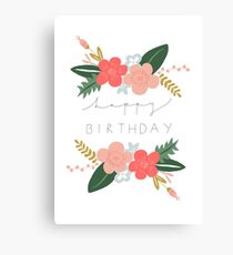 Fiona Happy Birthday/Greetings Card Canvas Print