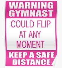 Warning Gymnast Poster