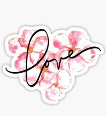 Plumeria Love Sticker