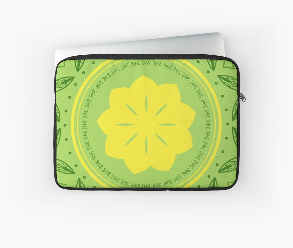Polynesian Design - Green/ Yellow\