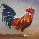 Portrait of Michael's Rooster by Lynda Robinson