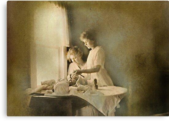 Chores at the Window by kayzsqrlz