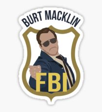 Burt Macklin - Parks and Recreation Sticker