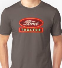 Vintage Ford Neon and enamel Tractor sign by MotorMania  Unisex T-Shirt