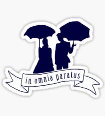 in omnia paratus Sticker