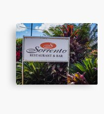 Sorrento Restaurant And Bar Canvas Print