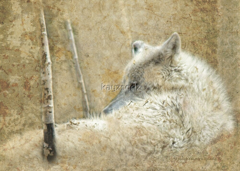 White Wolf Rest by kayzsqrlz