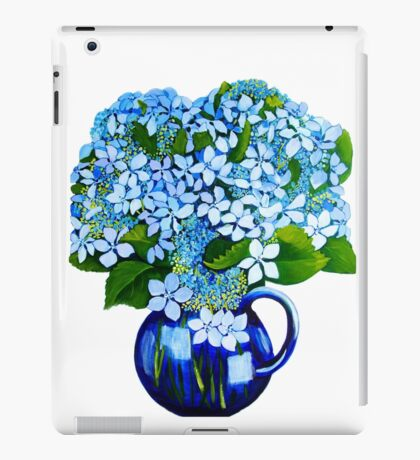 blue hydrangeas iPad Case/Skin