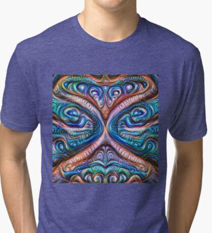 Frozen astral liquid #DeepDream #Art Tri-blend T-Shirt