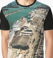 miami harbour from the helicopter Graphic T-Shirt