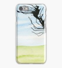 Ink tree on watercolour iPhone Case/Skin