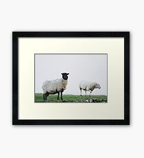 Harshness of winter on the moors Framed Print