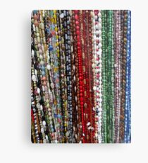 Marketplace Beads Metal Print