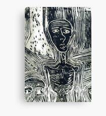 Lino Print Canvas Print