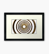 abstract futuristic circle gold pattern Framed Print