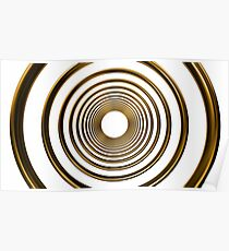 abstract futuristic circle gold pattern Poster