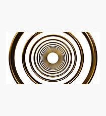 abstract futuristic circle gold pattern Photographic Print