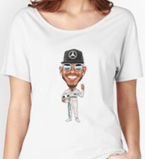 Lewis Hamilton 2017 Women's Relaxed Fit T-Shirt