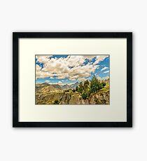 Valley and Andes Range Mountains Latacunga Ecuador Framed Print