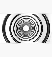 abstract futuristic circle pattern Poster