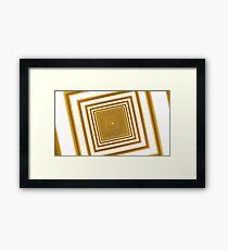 abstract futuristic square yellow corridor Framed Print