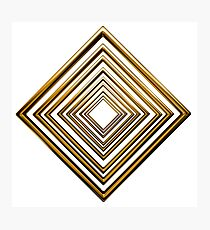 abstract rhombus gold pattern Photographic Print
