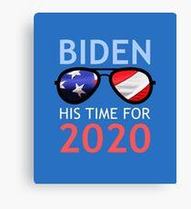 Joe Biden 2020 Biden His Time Canvas Print