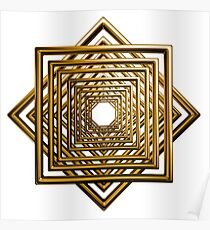 abstract square gold pattern Poster