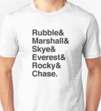 Rubble & Marshall & Skye & Everest & Rocky & Chase (Dogs of Paw patrol) T-Shirt