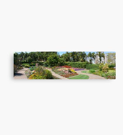 Gardens panorama Canvas Print