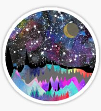 Orion Watercolor Mountain Landscape Sticker