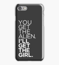It's Supergay. Something about getting the girl. iPhone Case/Skin