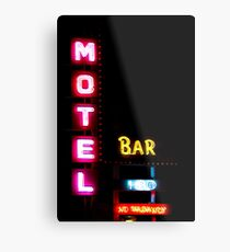 Motel  - Bar -  HBO - No Vacancy Metal Print