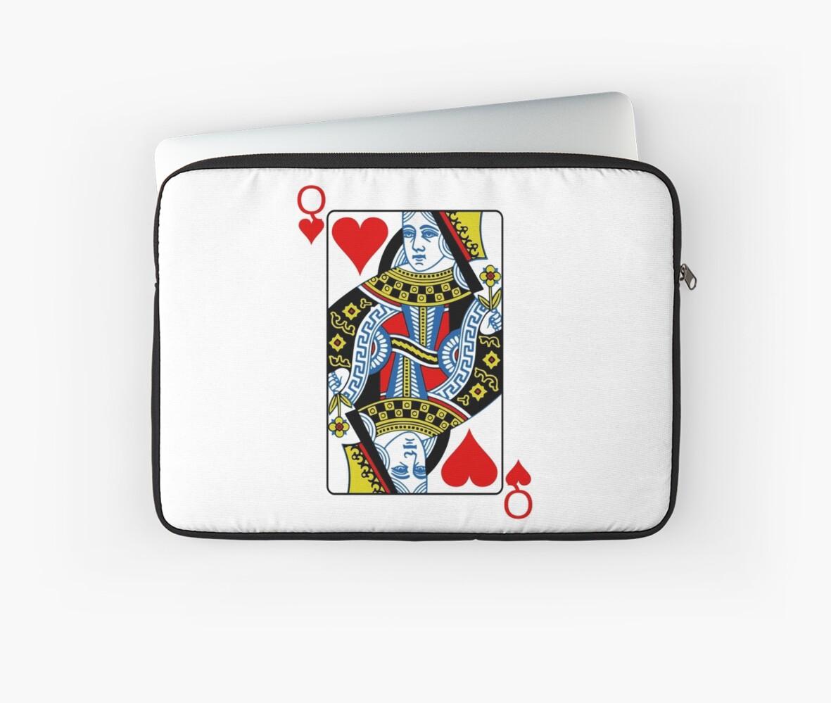 Fundas para portátil «Reina de corazones jugando a las cartas» de ...