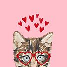 Kitten valentines day love hearts valentine for cat person cat lady must haves by PetFriendly by PetFriendly