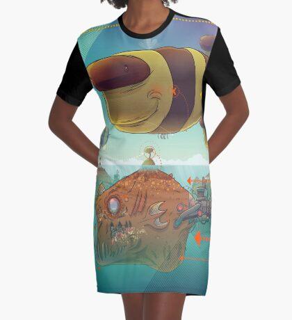 Bee Graphic T-Shirt Dress