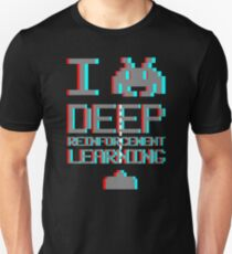 I heart deep reinforcement learning, capital grey (8-bit 3D) T-Shirt
