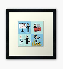 Successful Businessman Career Framed Print
