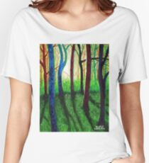 'Blue Ridge Ruminations #3' Women's Relaxed Fit T-Shirt