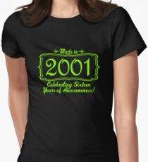 Made in 2001 Sixteen Years of Awesomeness 16th Birthday Sweet Sixteen T-Shirt