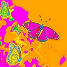 Psychedelic Butterflies  by Marianne Campolongo