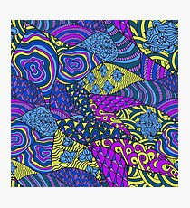 Colorful abstract psychedelic art Photographic Print