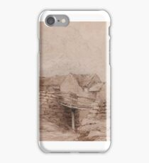 Attributed to David Cox the Elder  Cottage in Wales with peasant  iPhone Case/Skin