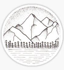 Mountains 2.0 Sticker