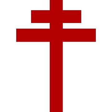 Cruz de Lorena - Caballeros Templarios - Santo Grial - Juana de Arco - Las Cruzadas de createdezign