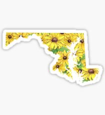 Maryland Flowers Sticker