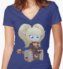 Poppy Keeper of the Hammer Women's Fitted V-Neck T-Shirt
