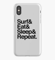 Surf. Eat. Sleep. Repeat. iPhone Case/Skin