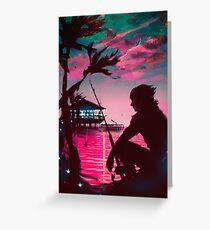 [Final Fantasy] Galdin Quay Sunset Greeting Card