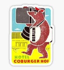 Hotel Coburgerhof Berlin Friedrichstrabe Vintage Travel Decal Sticker